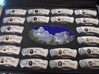 Set Of 43 Presidential Folding Knives In Case Gr1007368